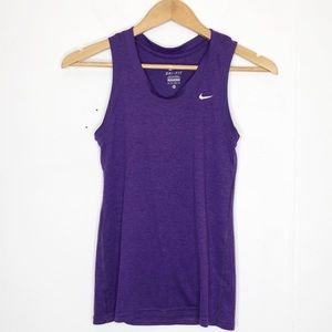 Nike Dri Fit muscle tank in Heather purple